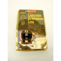 NEW VINTAGE Ambico Compact Camcorder 37mm Filter 2x Telephoto Lens