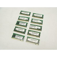 Lot of 10 512MB 2Rx16 PC2-4200 444Mhz DDR2 RAM Laptop Memory Sticks