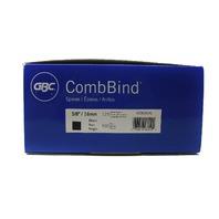 NEW GBC CombBind 5/8 16mm BLACK Binding Comb 100 Pack 125 Sheet Capacity