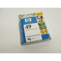 New Genuine HP 49 Tri-Color Inkjet Color Print Cartridge