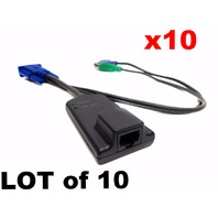 LOT of 10 Avocent AMIQ-PS2 AMX KVM Server Interface Module SIM