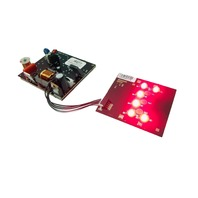 LumiLEDs LL50.0013 6 LED RED Board + LED Inverter / Driver Board