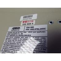 Adtran TSU 600 P/N: 1202.076L2#DC with 6 Dual FXO Cards loaded 1202.076L2