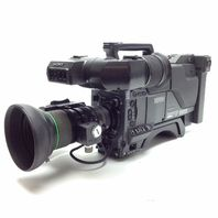 Sony DXC-D35WS BCTV Camcorder Black w/ Cannon Focus and Zoom Controllers & Case