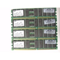 Lot of 4 HP 512mb DDR ECC HP P/N 261584-041 PC2100R Server Memory