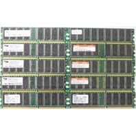 Mixed lot of 10 256MB DDR-400MHz-CL3 SERVER MEMORY