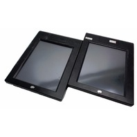 "(2x) EFI IKON DOCSEND ITD-02 15"" LCD INTEGRATED TOUCHSCREEN DISPLAY MONITOR VGA"
