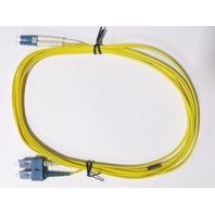3M LC-SC DUPLEX 9/125 SINGLEMODE FIBER OPTIC CABLE YELLOW #29920