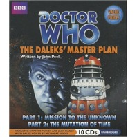 NEW Audio CDs: DOCTOR WHO: The Daleks' Master Plan by John Peel (Parts 1 &2, 10 CDs)