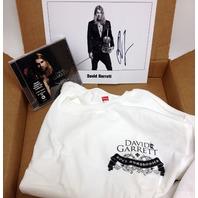 NEW David Garrett Deluxe Fan Pack: MEDIUM  T-shirt, Rock Symphonies CD, Autographed Picture