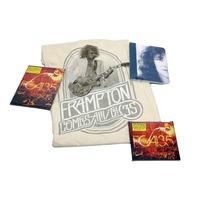 "Peter Frampton Best of FCA!35 Tour CD, DVD, 2XL T-Shirt ""A Walk in My Shoes"" Autographed Fan Book"