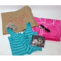 NEW Selena Gomez Fan Pack - When the Sun Goes Down (L blue shirt, CD, towel, bag, glasses, bracelets)