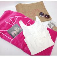 NEW Selena Gomez Fan Pack - When the Sun Goes Down (XL white shirt, CD, towel, bag, glasses, bracelets)