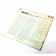 Marian Anderson Spirituals vintage vinyl Record LP Movie Prop