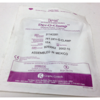 NEW STERILE Devon Drape Tube Clamp Dev-O-Clamp 761 / 31140281