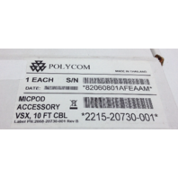 NEW Polycom 2215-20730-001 Mic Pod Accessory 10' ft Cable