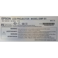 Epson LCD Projector EMP-S1 315 Lamp Hours