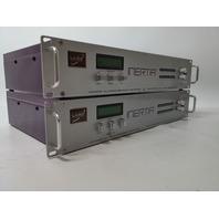 Lot of 2 Laird Inertia Telemedia LTM-6000C Media Converter, Bidirectional DV