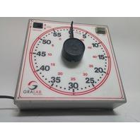 """GraLab 171 60 Minute Lab, Darkroom, Industrial Timer, 7-1/2 x 7-1/2 x 2-1/2"""""""