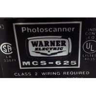 Warner Electric Photoscanner MCS-625