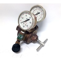 Union Carbide Airco 806 8456 Gas Pressure Regulator Gauges