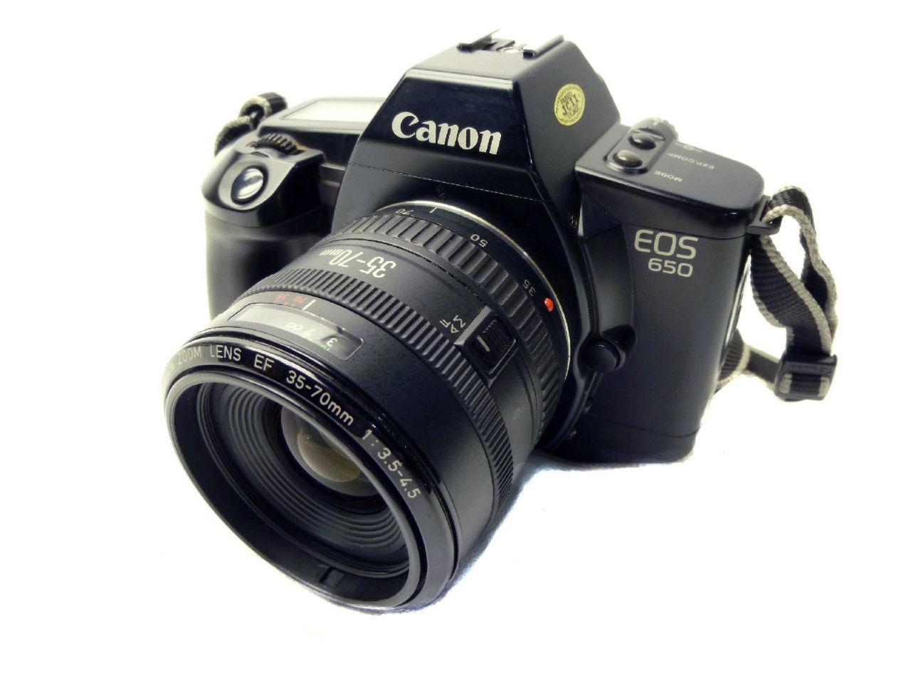 canon eos 650 af 35mm film slr body canon zoom lens ef 35. Black Bedroom Furniture Sets. Home Design Ideas