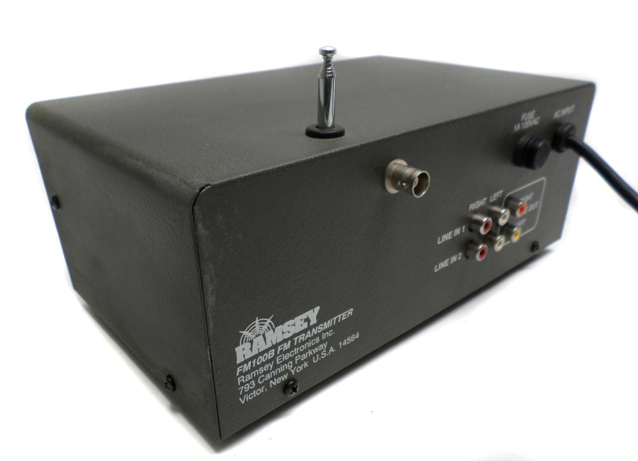 ramsey fm100b fm transmitter w ramsey directional watt. Black Bedroom Furniture Sets. Home Design Ideas