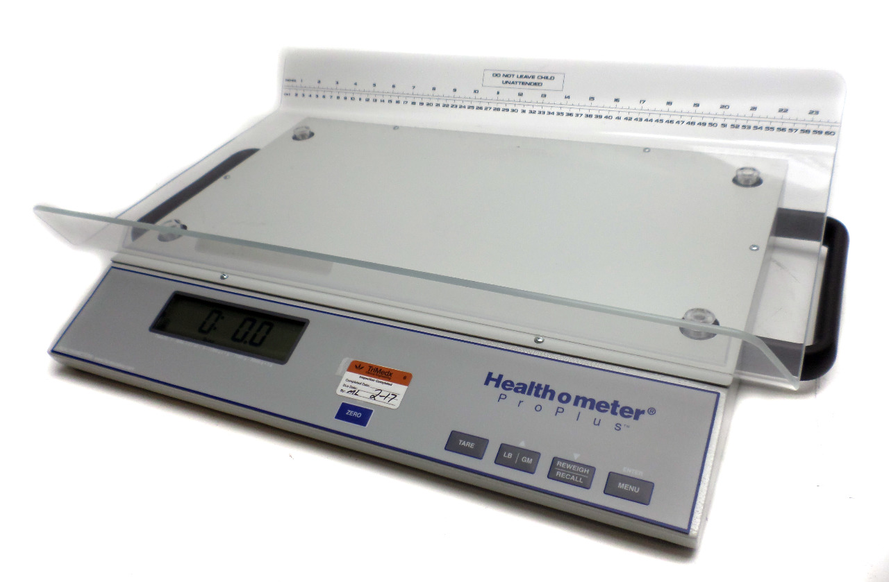 The Health O Meter KL has a capacity of 44 pounds / 20 kg and a readability of ounces. Featuring EMR connectivity via its USB interface, this scale is a Price:
