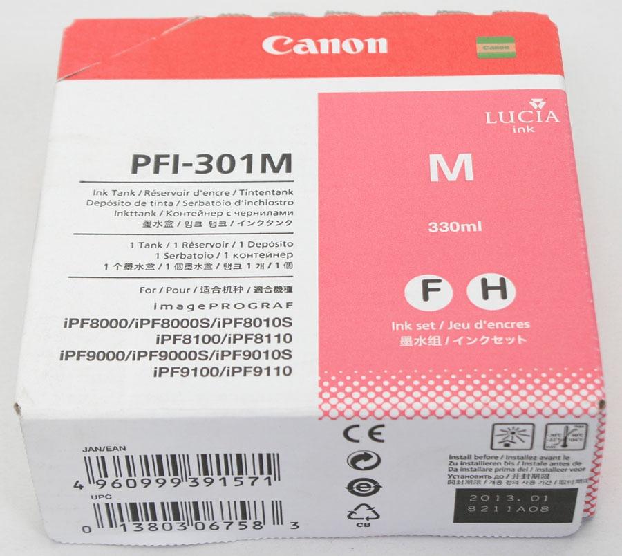 Canon Lucia 330mL Ink Tank PFI-302M Magenta - Exp. 01/2013