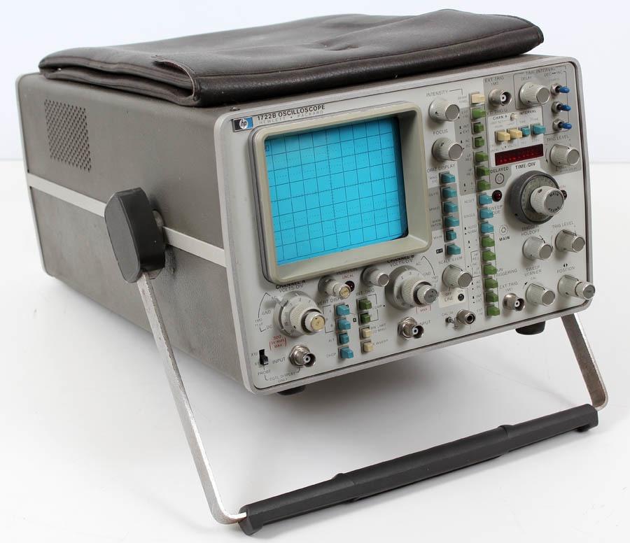 Dual Trace Oscilloscope : Hp agilent b mhz dual trace oscilloscope