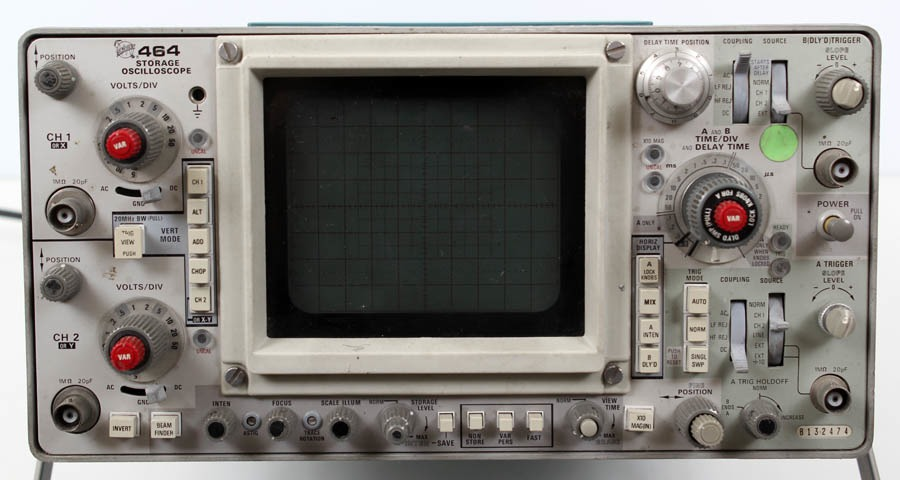 Tektronix Analog Oscilloscope : Tektronix channel mhz analog storage oscilloscope