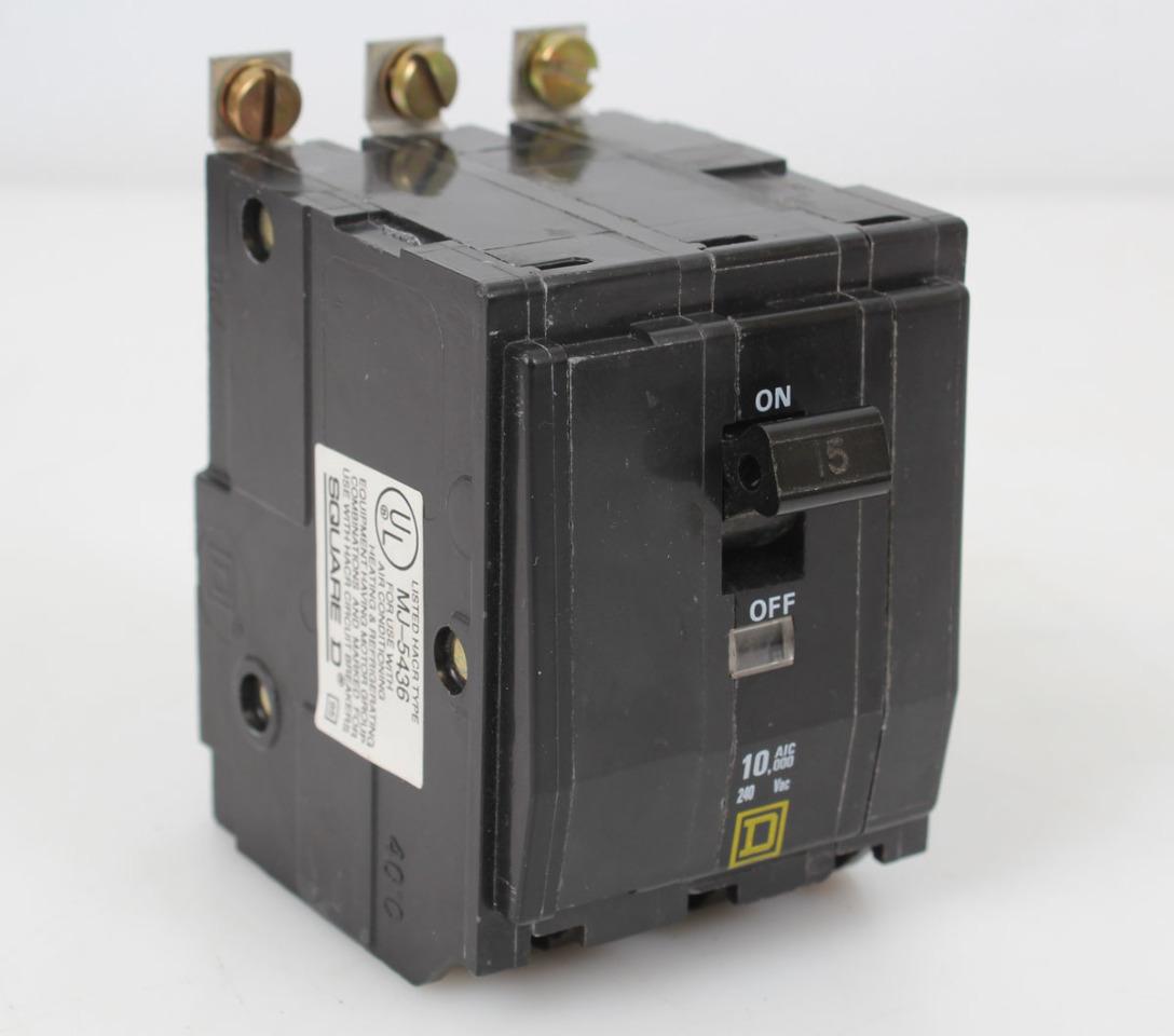 3 Pole Breaker Square D Details About Kal36100 100 Amp 600 Volts Circuit Qob315 15 240vac