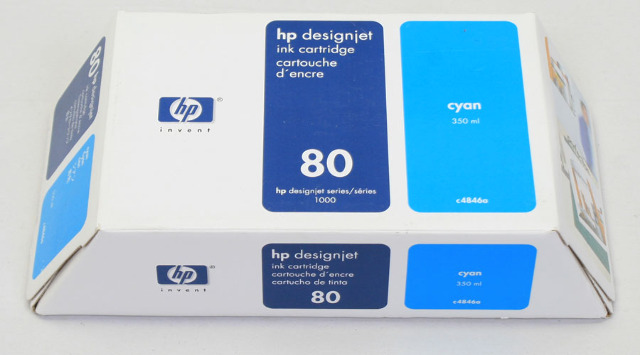 NEW Genuine OEM HP 80 Designjet Cyan Ink Cartridge c4846a