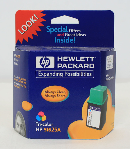 NEW Genuine OEM HP 25 Tri-color Inkjet Print Cartridge 51625A