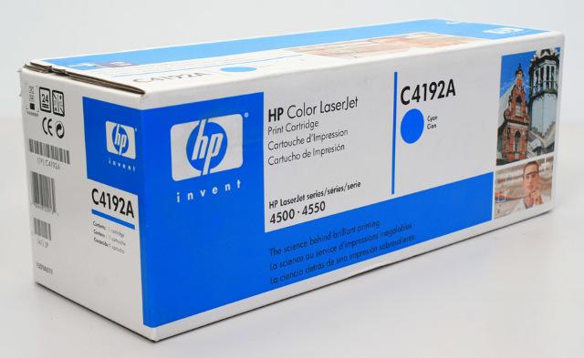 New HP C4192A Cyan Toner for Color LaserJet 4500 4550, Sealed