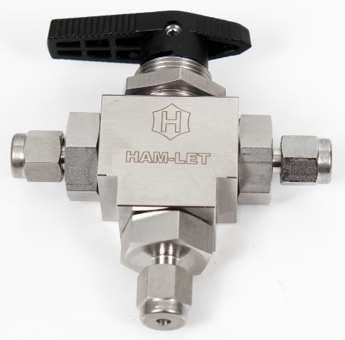 HAM-LET H6800SSL1/8 RCST Stainless Steel 3-Port LET-LOK Ball Valve 6000 PSI