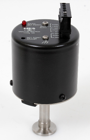 MKS Baratron Absolute Ambient Vacuum Switch 141AA-00010DB, 10 Torr Range
