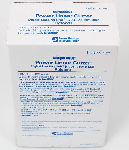 Power Med SurgASSIST PLCR75B Power Linear Cutter Digital Loading Unit 75mm Blue