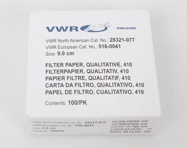 VWR Grade 410 Qualitative Filter Paper 9.0cm 100 Filters 28321-077