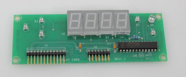 Display PCB Board Rev 1 for Lytron Kodiak Chiller RC022 208/230V 230-0875