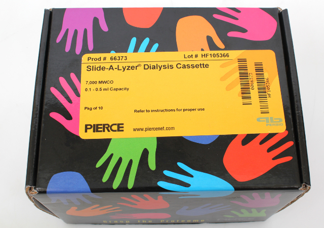 Lot of 8 Pierce Slide-A-Lyzer Dialysis Cassette 7000 MWCO, 0.1-0.5 ml  #66373