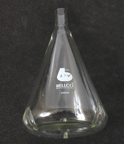 Bellco Triple Baffled Delong Neck Shaker Flask 4000mL 4L