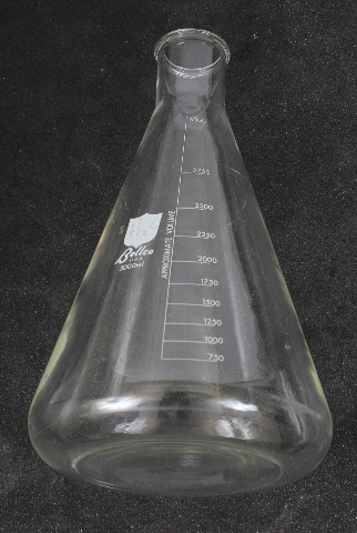Bellco 3L Erlenmeyer Flask 3000mL 2504-03000