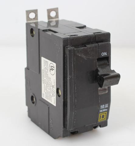Square D QOB220 Circuit Breaker 20 Amp 2 Pole 240VAC