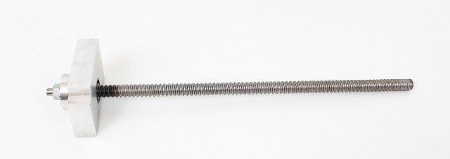 "Ball Screw and Block Only 0.500 IN x 0.200 IN 15"" Long"