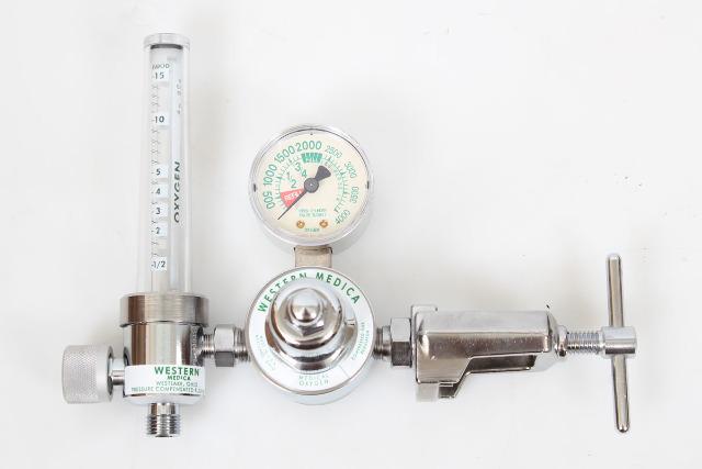 Western Medica Single Stage Flowmeter Style Oxygen Regulator M1-870-15FM