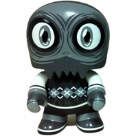 "Uncle Argh 5"" Toyer Mini Qee -Noir Edition- Scott Tolleson 1/300"