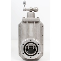 "Heavy Duty High-Vacuum Manual Aluminum Gate Valve ASA/ANSI 2"" Flange"