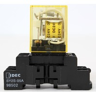 IDEC RY2S-U DC24V Relay + DIN Mount SY2S-05A - 1 Year Warranty