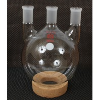 New Kontes 2000mL Distilling Three Neck Round Bottom Heavy Wall Flask 6060201824